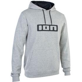 ION Felpa con cappuccio con logo Uomo, grigio